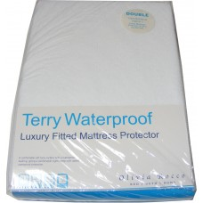 Double Terry Toweling Waterproof Mattress Cover Protector