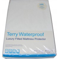King Size Terry Toweling Waterproof Mattress Cover Protector