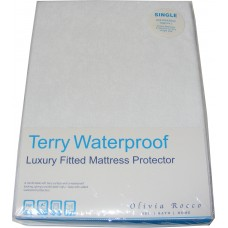 Single Terry Toweling Waterproof Mattress Cover Protector