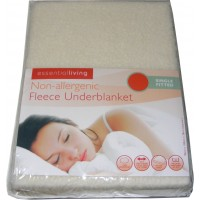 Single Fitted Thermal Fleece Underblanket Mattress Cover