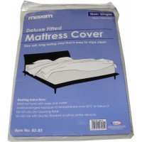 Single Plastic Vinyl Waterproof Mattress Cover Protector